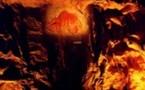 Une des parois de la grotte