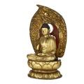 The Amida BuddhaJapan, Kyōto. 18th centuryGolden wood. H 100 cmGift Edmond Rochette in 1938Musée d'ethnographie de GenèvePhoto : J. Watts The Buddhism of Madame Butterfly. Buddhist Japonism9 September 2015 – 10 January 2016