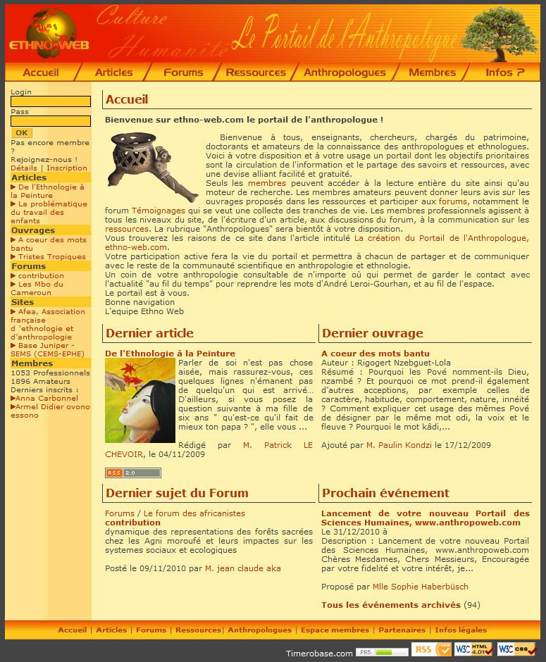 Le Portail de l'anthropologue, www.ethno-web.com