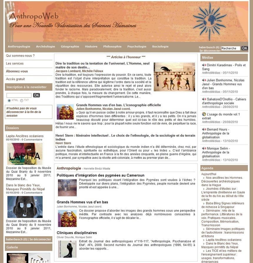 Le Portail des sciences humaines, www.anthropoweb.com
