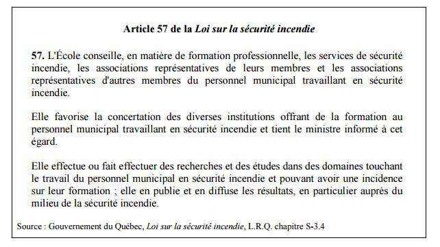 Rapport de recherches : Portrait sociologique de la profession des pompiers du Québec