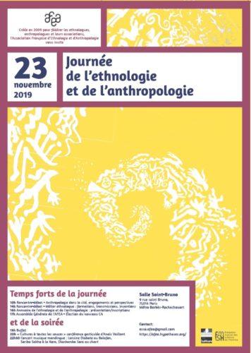 Journée de l'ethnologie et de l'anthropologie le 23 novembre : l'AFEA a 10 ans !