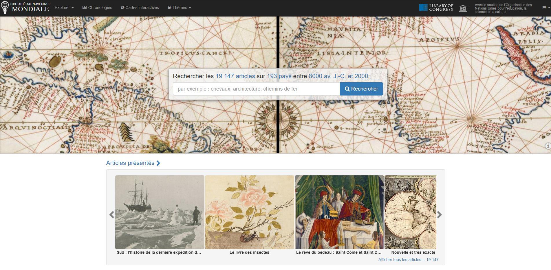 La Bibliothèque numérique mondiale