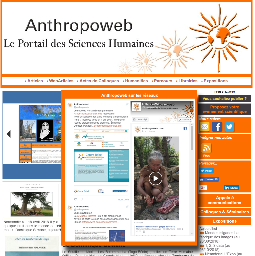 Suivre Anthropoweb sur les réseaux ?
