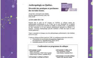 Anthropologie au Québec. Diversité des pratiques et pertinence des terrains locaux.