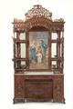 """Buffet-autel catholique, Exposition temporaire : """"Baba bling - Signes intérieurs de richesse à Singapour """". Du 05 octobre 2010 au 30 janvier 2011."""
