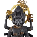 "Sambō-KojinJapanese god included in the Buddhist pantheon as a ""temporary manifestation""Japan. 19th centuryWood. H 47 cmFormer collections of the Musée archéologique, 1884Musée d'ethnographie de GenèvePhoto : J. Watts The Buddhism of Madame Butterfly. Buddhist Japonism9 September 2015 – 10 January 2016"